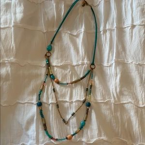 Charming Charlie's, turquoise necklace